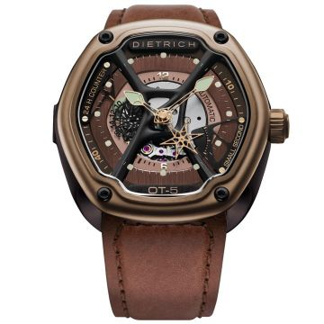 Dietrich O.Time-5 Automatic Brown Vintage Leather Strap 46 mm