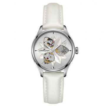 Hamilton Jazzmaster Open Heart Lady Automatic White Leather 34mm