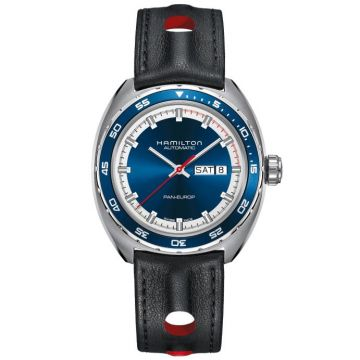 Hamilton American Classic Pan Europ Auto Day Date Leather Strap 42 mm