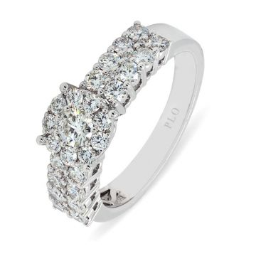 White Gold ring with diamonds 1.1 carats - Engagement ring