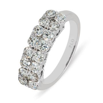 White Gold wedding ring with diamonds 1.17 carats