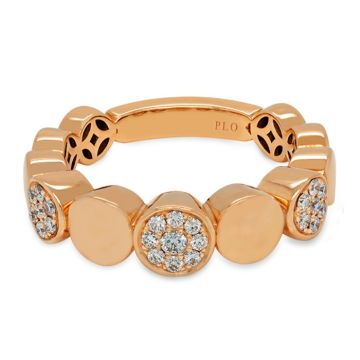 Rose Gold ring with diamonds 0.23 carats