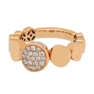 Rose Gold ring with diamonds 0.25 carats