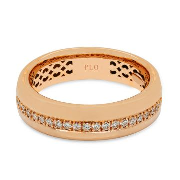 Rose Gold ring with diamonds 0.21 carats