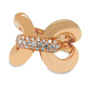Rose Gold ring with diamonds 0.39 carats