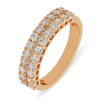 Rose Gold ring with diamonds 1.11 carats