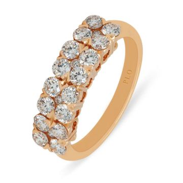 Rose Gold ring with diamonds 1.13 carats