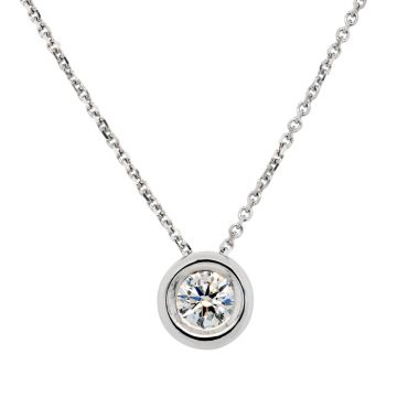 White Gold Pendant with diamond 0.20 carats
