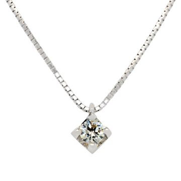 White Gold Pendant brilliant cut diamond 0.14 carats