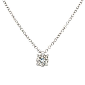 White Gold Pendant brilliant cut diamond 0.06 carats