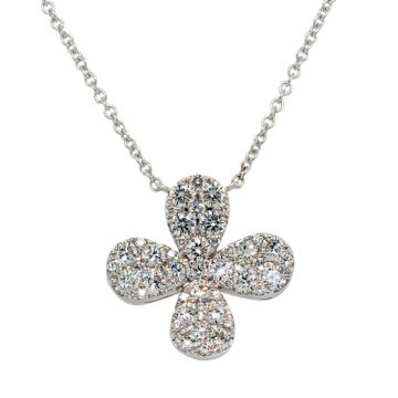 White Gold Pendant with diamond cross 1.66 carats
