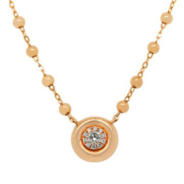 Rose Gold Pendant with diamond 0.20 carats