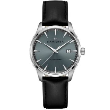 Hamilton Jazzmaster Gent Quartz Grey Blue Dial 40mm