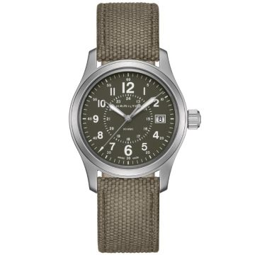 Hamilton Khaki Field Quartz Olive Green Dial 38 mm