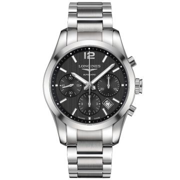 Longines Conquest Classic Automatic Chronograph Black Dial 41 mm
