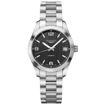 Longines Conquest Automatic Ladies Black Dial 34 mm