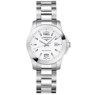 Longines Conquest Quartz White Dial 29,5mm