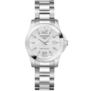 Longines Conquest Quartz Siver Dial 29,5mm