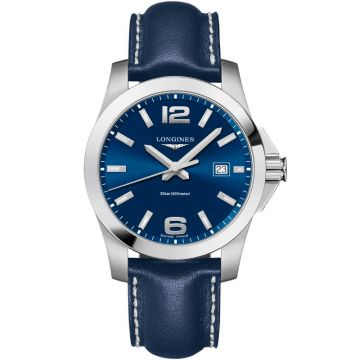 Longines Conquest Quartz Blue Dial 41mm L3.759.4.96.0
