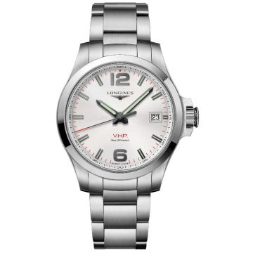 Longines Conquest V.H.P. Quartz Silver Dial 41mm