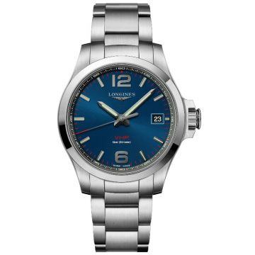 Longines Conquest V.H.P. Quartz Blue Dial 41mm