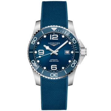 Longines HydroConquest Automatic Rubber Strap Blue Dial 41mm