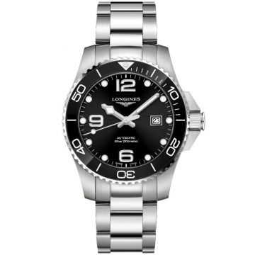 Longines HydroConquest Automatic Steel Black Dial 43mm