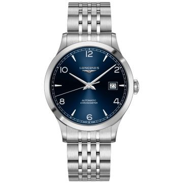 Longines Record Collection Automatic Steel Blue Dial 40mm L2.821.4.96.6