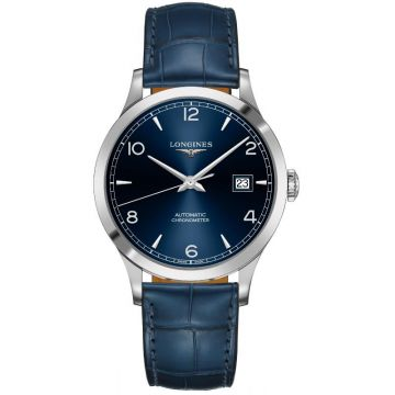 Longines Record Collection Automatic Leather Blue Dial 40mm L2.821.4.96.4