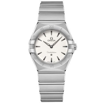 OMEGA Constellation Manhattan Quartz Silver Dial 28 mm