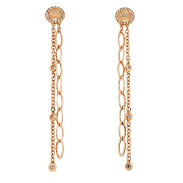 Rose Gold earrings with diamonds 0.60 carats