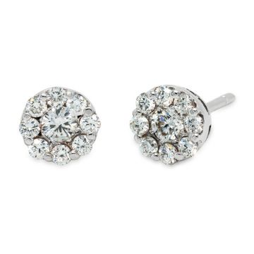 White Gold earrings with diamonds 0.62 carats