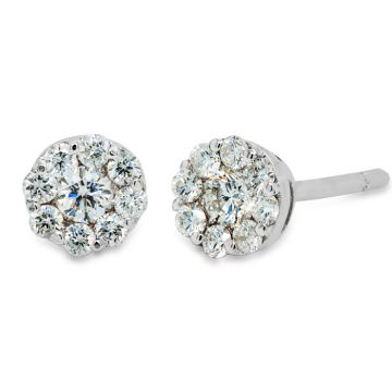 White Gold earrings with diamonds 0.38 carats