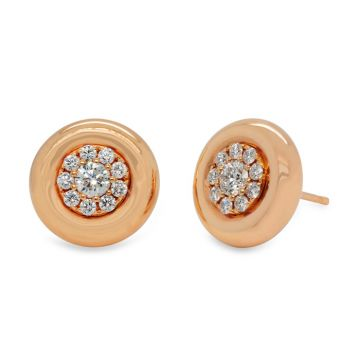 Rose Gold earrings with diamonds 0.77 carats