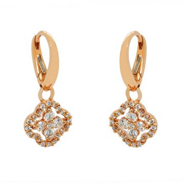 Rose Gold earrings with diamonds 0.68 carats