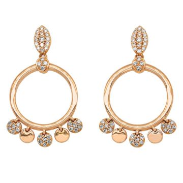 Rose Gold earrings with diamonds 0.58 carats