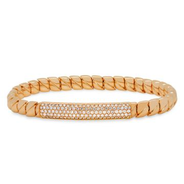 Rose Gold Elastic Bracelet with diamonds 1.00 carats