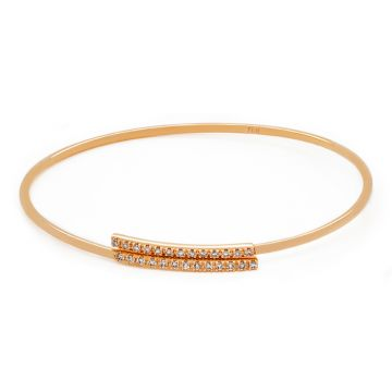 Rose Gold Bracelet and Brilliant cut Diamonds with 0.27 carats