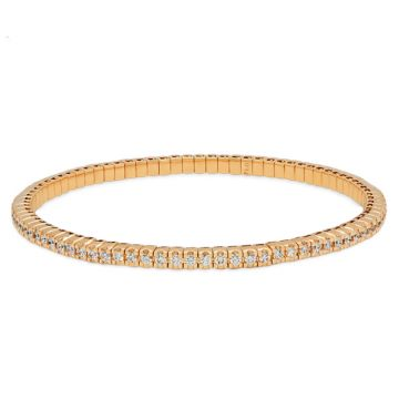 Rose Gold riviere bracelet with diamonds 1.80 carats