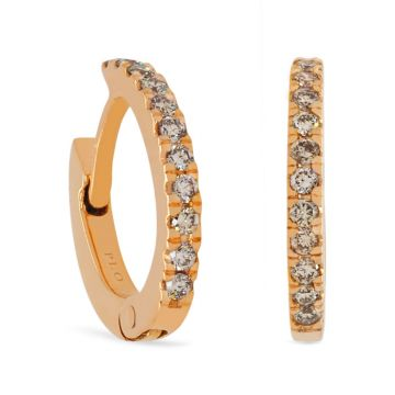 Rose Gold earrings and brown diamonds - Jewelry Murcia