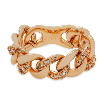 Rose Gold ring with brilliant cut diamonds with 0.55 carats