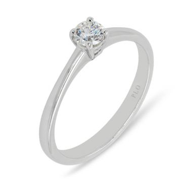 White gold solitaire ring diamond 0.25 carats Color G Clarity VS