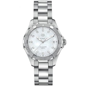 TAG Heuer Aquaracer 300M Lady Quartz Mother Pearl Diamonds 35 mm WBD131B.BA0748