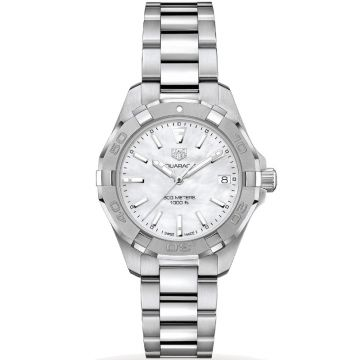TAG Heuer Aquaracer 300M Lady Quartz MOP White Dial 35 mm WBD131A.BA0748
