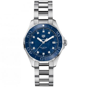 TAG Heuer Aquaracer 300M Lady Quartz Blue Mother of Pearl & Diamonds 35mm