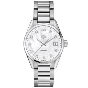 TAG Heuer Carrera Lady Quartz Diamonds 36 mm WBK1318.BA0652