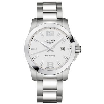 Longines Conquest Quartz Silver Dial 41mm