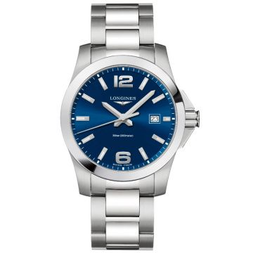 Longines Conquest Quartz Blue Dial 41mm L3.759.4.96.6