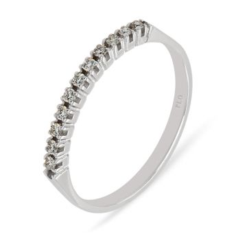 White gold wedding band diamonds 0.11 carats