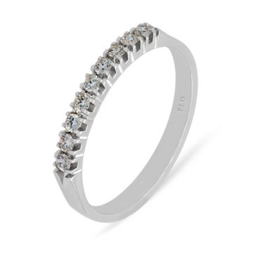 White gold wedding band diamonds 0.18 carats